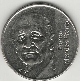 1992 5 France Coin