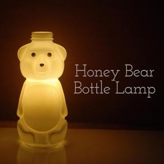 DIY Make A Honey Bear Bottle Lamp