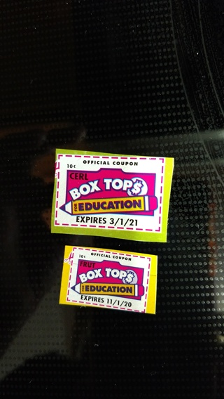 (10) Box Tops for Education and (2) Tyson