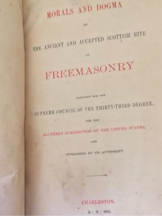 Antique 33rd Degree Masonic Handbook