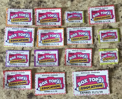 15 Box Tops for Education