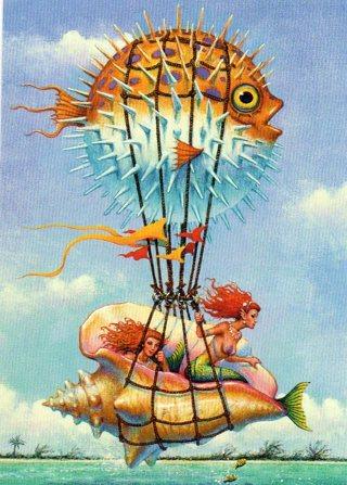 1996 Don Maitz Fantasy Art Trade Card: Tropical Fantasy