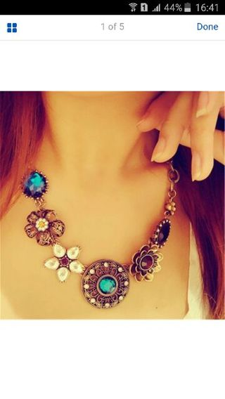 Women's Fashion Jewelry Crystal Collar Bib Statement Pendant Vintage Necklace
