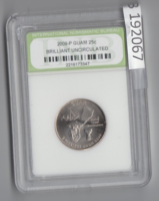 2009-P BRILLIANT UNCIRCULATED GUAM Quarter 25c SPECIAL get 1/2 OFF all additional 192067