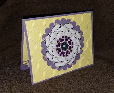 Birthday Pansy Kaleidoscope Card - handmade