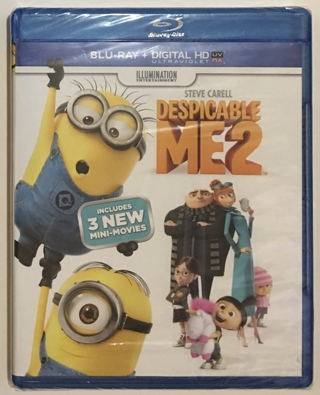Despicable Me 2 Blu-ray / Digital HD Movie - Brand New Factory Sealed