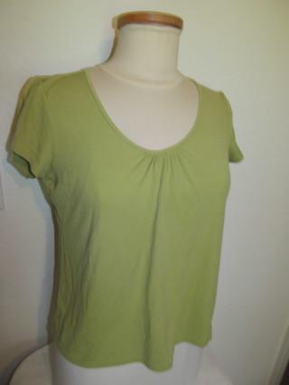 Eileen Fisher Green Women's Petite Medium Shirt, Top