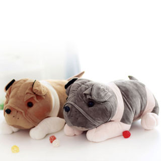 23cm Cute Soft Belted Plush Toy Dog Doll Best Valentine's Day Gift