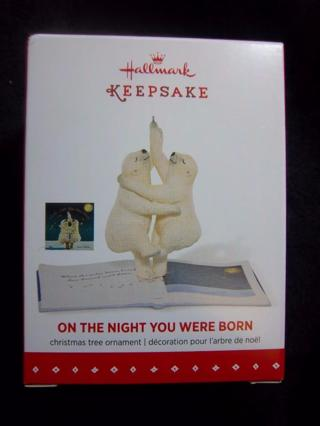 "NEW - $14.95 Retail ~ Hallmark Keepsake ""ON THE NIGHT YOU WERE BORN"" Ornament - Classic Kids Book"