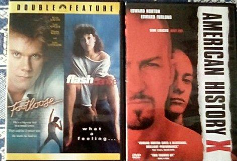 American History X + Footloose + Flashdance DVDs
