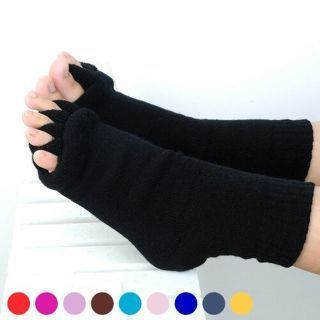 Pair Sports Yoga GYM Massage Five Toe Separator Socks Foot Alignment Pain Relief