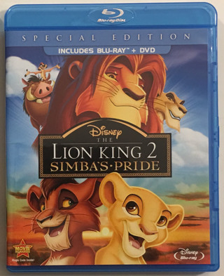 Disney The Lion King 2: Simba's Pride Special Edition Two-Disc Blu-ray / DVD Combo - Mint Discs