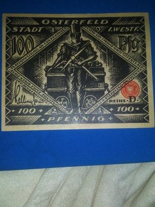 1) German Banknote** 1921 D
