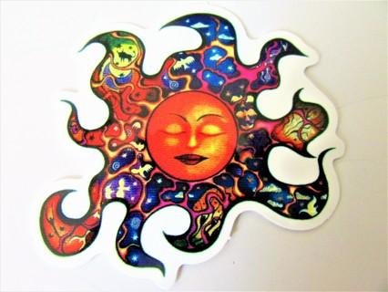 LIQUID BLUE SUN Vinyl Sticker- Helmet/Car/Skateboard/Business/Crafts