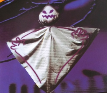 HALLOWEEN OUTDOOR HANGING GHOST DECOR CONTENT 1 SIZE 30 INCHES X 30 INCHES