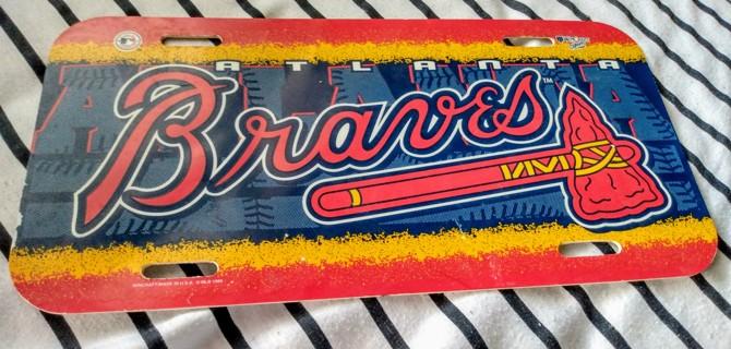 1999 Atlanta Braves vinyl License Plate