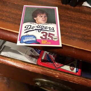 Free 1981 Topps Bob Welch Baseball Card Sports Trading