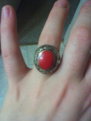 red carnelion stone ring