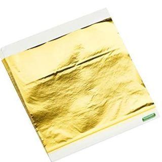 """100 Sheets Imitation Gold Leaf Foil Paper 5.5"""" x 5.5"""""""