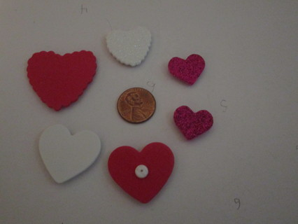 1st 6 gr8 heart magnets