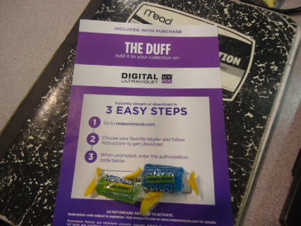 UV code for   THE DUFF