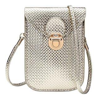 Mobile Phone Bags Women Fashion Small Woven Shoulder Bags Mini Messenger Bag