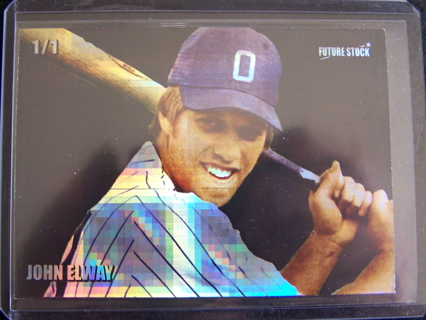 Free John Elway Baseball Card Refractor By Future Stock 11 Only