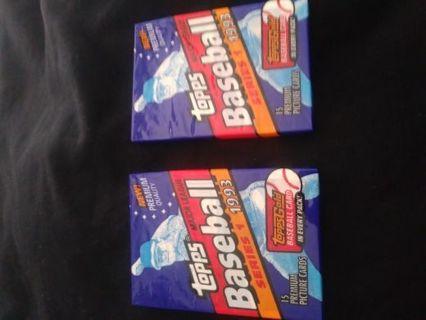 2 Unopened 1993 Major League Baseball Cards..