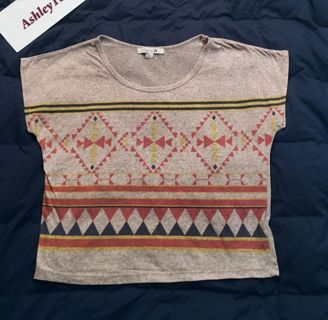 FOREVER 21 Cute Pattern Shirt loose soft lightweight top plain back