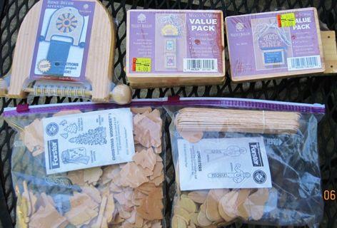 3 Wooden Value Pack, Wood and Wire Hangers and 2 Bags to make Sport sticks/Other