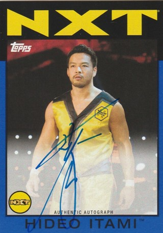 WWE Topps Heritage 2016 ~ HIDEO ITAMI Rookie Autograph #d to Only 25 !