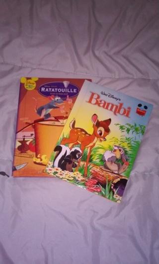 2 Disney books ~ Bambi & Ratatouille