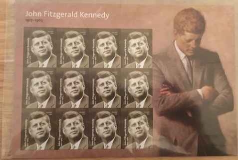 FULL SHEET OF JOHN FITZGERALD KENNEDY FOREVER STAMPS