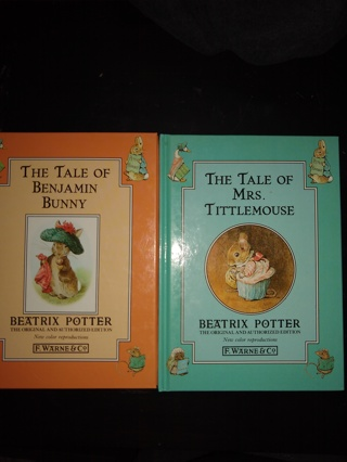 Beatrix Potter books the tale of benjamin bunny and the tale of mrs tittlemouse EUC