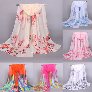 Pretty Long Soft Womens Fashion Printed Chiffon Scarf Wrap Shawl Stole Scarves