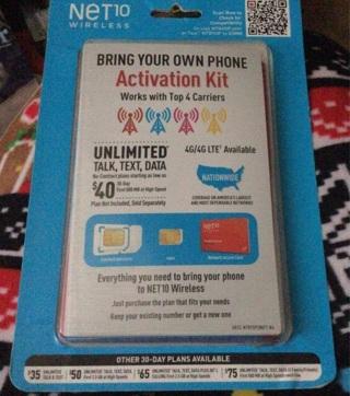 BN NET10 wireless activation kit
