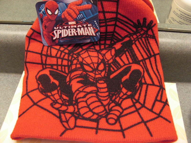 Free: Marvel Ultimate Spiderman Boys Knit Beanie Hat Cap ...