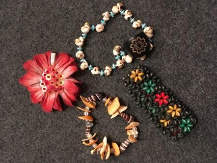 Tropical Island Theme Jewelry lot