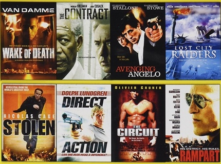 8 Action Movies on DVD: Stallone, Nicola Cage, Woody Harrelson, Van Damme, John Cusak