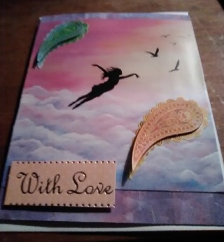 With Love - Design Blank Note Card