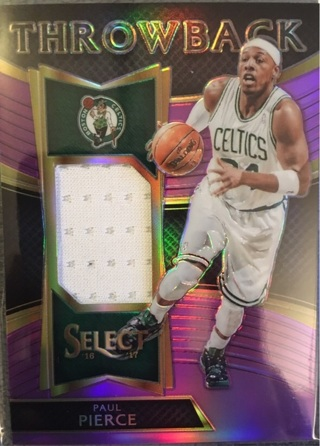 Paul Pierce Purple Prizm Throwback Jersey /99 Boston Celtics