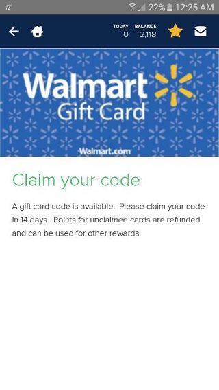 $$5.00 Online Wal-Mart Gift Card $$