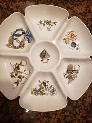 Misc. Jewelry making supplies, junk jewelry, beads clasps etc.