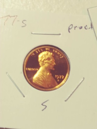 1977-S Proof Cameo Lincoln Penny! 511