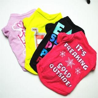 [GIN FOR FREE SHIPPING] Pet Small Dog Cute Casual Vest Puppy T-Shirt Apparel