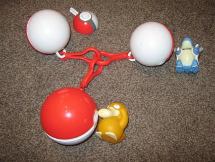 3-1999 Poke-Balls, Blastoise, Psyduck & a launcher?