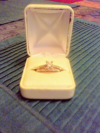 Beautiful Wedding Set, Size 7 1/2. Gift W/Gin