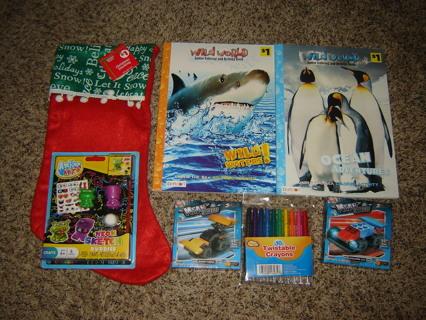 NEW! Boy's Stuffed Christmas Stocking #1