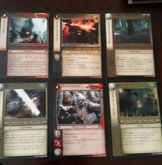 6 Rare The Lord Of The Rings Collectors Gaming Trading Cards