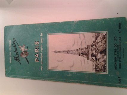 Michelin Guide to Paris 1958